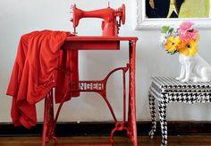 Máquina de Costura #singer #vintage #color