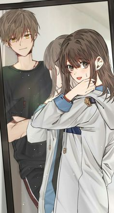 Call - What's wrong D - I always watch you do your hair Manga Couple, Anime Love Couple, Anime Couples Manga, Cute Anime Couples, Manga Anime, Desenhos Love, Handsome Anime Guys, Cute Romance, Cute Anime Pics