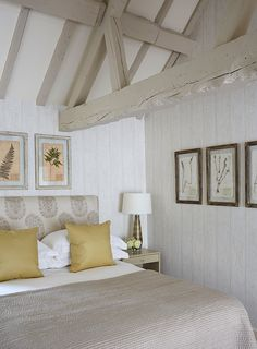 Ideas Bedroom Interior Design Hotel For 2019 Barn Bedrooms, Home Bedroom, Bedroom Decor, Bedroom Ideas, Cottage Bedrooms, Bedroom Inspiration, Design Hotel, House Design, Painted Ceiling Beams