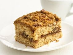 44% less fat, 55% less sat fat, 27% fewer calories than the original recipe. Coffee cake is still delicious with an update to canola oil and whole wheat flour.