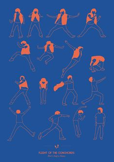 "Artist Niege Borges Alves created a series of ""Dancing Plague of 1518″ Brets angry dance - Flight of the Conchords"