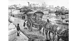 El Ensanche llega al Puente de Segovia, 1898                                                                                                                                                      Más