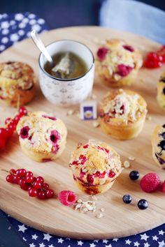 Il y a quelques jours, j'avais une grosse envie de muffins avec pleins de fruits différents. Et ça tombait bien car j'avais dans mon réfrigérateur plusieur