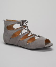 Take a look at the Gray Larisa Sandal on #zulily today!