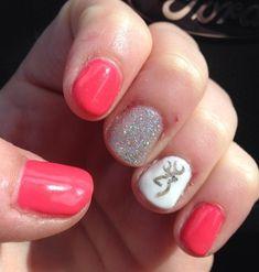 My shellac nails with browning nail art !
