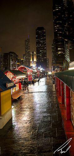 evening, Navy Pier, Chicago, IL