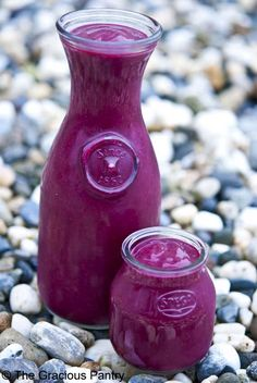 Clean Eating Cherry Beet Smoothie:: Clean Eating Cherry Beet Smoothie (Makes approximately 4 cups) Ingredients: 1 cup frozen cherries, unsweetened 2 cups marinated beets 1 cup light coconut milk 1 medium banana 1 teaspoon ground cinnamon Directions: Place all ingredients in blender and blend until smooth.