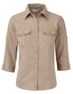 Camicia Casual donna per Primavera Puro Cotone con Taschini Manica arrotolabile