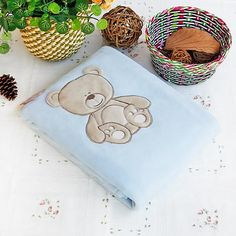 Decorative and functional blanket measures 30.7 by 39.4 inches. Suitable for home or travel. The Embroidered Applique Polar Fleece Baby Kids Throw Blanket measu