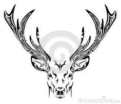 Abstract Deer Head Tribal Tattoo - Download From Over 24 Million High Quality Stock Photos, Images, Vectors. Sign up for FREE today. Image: 35774286