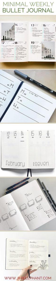 30 Minimal Weekly Bullet Journal Layout Ideas