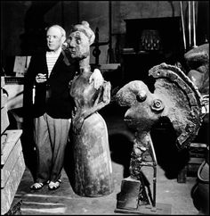 Paris, Sept 1944: Pablo Picasso in his studio//Robert Capa