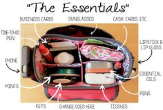 A FAST AND EASY WAY TO CHANGE PURSES - a dollar store craft caddy makes a great purse organizer that you can lift out of one bag and drop into another when you want to switch purses quickly and easily.