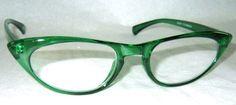 50's Retro Cat Eye Gafas Esmeralda « Peggy » Gafas de lectura, claro O reglaze