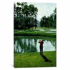 iCanvas Golf Course 9 Gallery Wrapped Canvas Art Print by William Vanderdasson