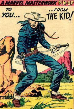 Jack Kirby - The Rawhide Kid Marvel E Dc, Marvel Comic Universe, Marvel Heroes, Comic Book Characters, Comic Book Heroes, Comic Books Art, Comic Art, Book Art, War Comics