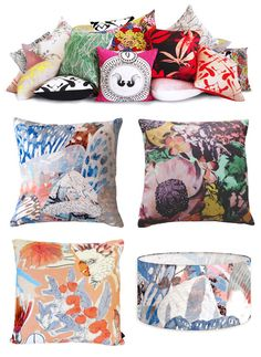 Stunning soft furnishings and accessories by Sydney textile designers Sixhands