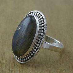 32f8364ab Labradorite Gemstone Jewelry 925 Sterling Silver Handmade Jewelry Ring WR-1374  Handmade Sterling Silver,
