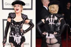 Madonna showing off her ass during Grammys 2015...