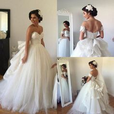 WD26 Sweetheart Ball Gown Lace Charming Wedding Dresses,Wedding Dress Custom Made Wedding Gown,