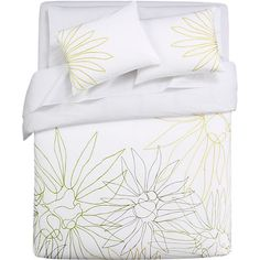 lula embroidered bed linens in bed linens | CB2