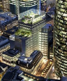 30 St Mary Axe's (the Gherkin's) new green neighbour, 6 Bevis Marks, by Fletcher Priest Architects
