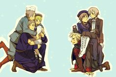 Iceland and Norway don't seem to care much x3 -Hetalia -Nordics -Sealand