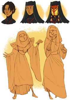 Alma, Irene and Iman doodles by Chopstuff.deviantart.com on @deviantART