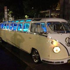 Repurposed Car Parts - Retro Limousine Volkswagen Volkswagen Transporter, Volkswagen Bus, Vw T1, Westfalia Van, Volkswagon Van, Vw Caravan, Vw Camper, Campers, Eurovan Camper
