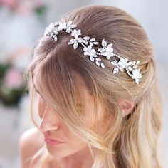 Just like your charming smile of happiness on the most significant day of your life, this DEMETRA model amazes! ⠀ ✽ It looks tender and delicate, yet is impressively durable to withstand the whole ceremony and the celebration without letting you down! Lavender Wedding Colors, Flower Crown Wedding, Flower Crowns, Wedding Tiaras, Brides And Bridesmaids, Wedding Hair Accessories, Bridal Headpieces, Hair Pieces, Beautiful Bride
