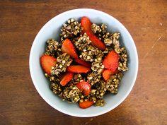 Buckwheat and hemp seed granola. Very sweet