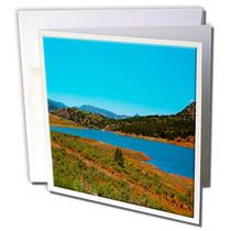 3dRose - Jos Fauxtographee Realistic - A Vibrant Look at The Reservoir in Enterprise, Utah with Its Surrounding Mountains and Hills