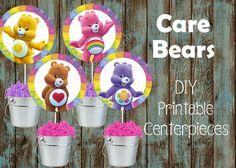 Care bears Centerpieces, Care Bears birthday Party Supplies   PapelPintadoDesigns - on ArtFire