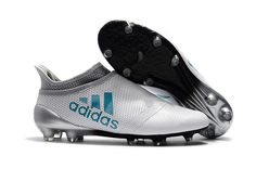 669c85c61 adidas X Purespeed FG White Energy Blue Clear Grey Soccer Cleats For Sale
