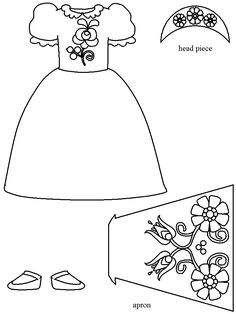 template Projects For Kids, Crafts For Kids, Kids Sheets, Parchment Cards, Hungarian Embroidery, Free Coloring Pages, Girl Scouts, Decor Crafts, 8 Martie
