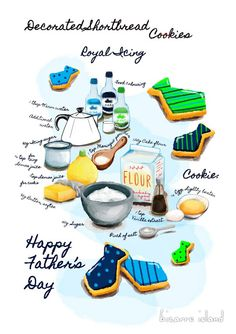 #Recipe illustration #collectible Icing #cookies