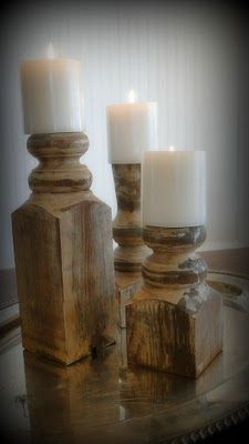 Farm Chic: Upcycled Porch Posts