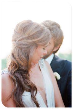 Formal hair. Semi updo.