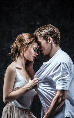 Lily James and Richard Madden in Romeo and Juliet.  Okay, I really wish I was Lily James.  She got to be Cinderella, Lady Rose, and now Juliet.  And Richard Madden is stunning.  Honestly, Lily James is a real life princess.