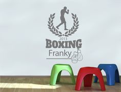 Personalised Boxing Wall Sticker (Buy 2 Get FREE mix and match) Personalised Wall Stickers, Childrens Wall Stickers, Personalised Box, Wall Sticker Design, Boxing, Free, Color, Home Decor, Custom Wall Stickers