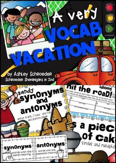 A vocabulary toolkit that includes practice for synonyms, antonyms, context clues, homographs, and idioms! Perfect for 2nd and 3rd grade vocabulary practice!