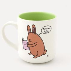 Watership Downer Mug: Ideal as a gift for your favourite literary buff, this stoneware mug features a comic illustration by artist Al Murphy based on the classic book Watership Down