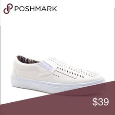 🆕 White Slip on Sneakers Trendy and comfy slip on sneakers. A spring/ summer wardrobe must have! Style them with your favorite jeans, leggings or shorts. Available in Blush pink and Ash Blue. Pic 2 for modeling purposes Bchic Shoes Sneakers