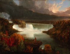 Distant View of Niagara Falls by Thomas Cole