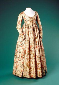 Two-Piece Dress: ca. 1785-1810, Dutch (probably).