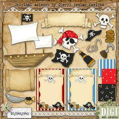 A Pirate's Life For Me 1 - Cheryl Seslar Country Clip Art : Digi Web Studio, Clip Art, Printable Crafts & Digital Scrapbooking!