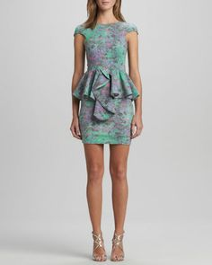 Divine Stone Peplum Dress, Turquoise by Talulah at Neiman Marcus. $137