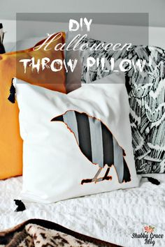 This month's Create and Share challenge was a lot of fun! We each received a Halloween pillow kit from Cutting Edge Stencils. My striped crow throw pillow is super adorable and very easy! What an awesome pillow kit!
