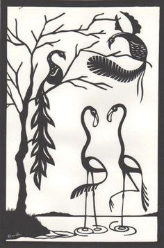 Flamingo Original Papercut Art