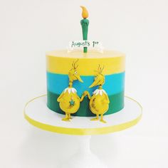 Cake by Sweet and Saucy Shop | Nesting Dr. Seuss birds found their home on their cake!